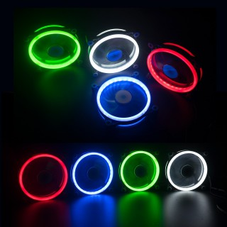 Wentylator RGB Ring LED Multikolor, Wtyczka 6 pin