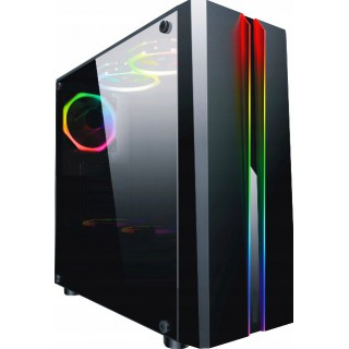 Komputer GAMER Ryzen 7 8GB SSD+HDD +LED 24 +Win10